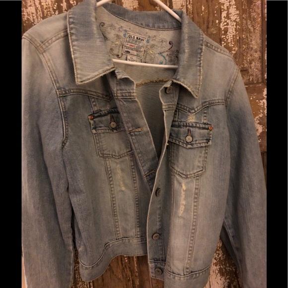 Old Navy Jackets & Blazers - Old Navy distressed jean jacket